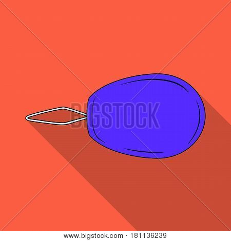 Device for threading the needle.Sewing or tailoring tools kit single icon in flat style vector symbol stock web illustration.
