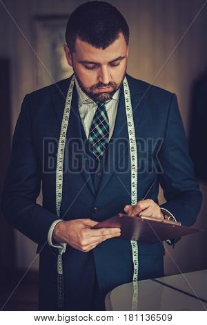 Tailor in his workshop
