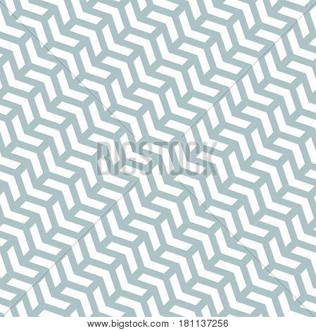 Geometric light blue and white pattern with arrows. Seamless abstract background