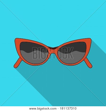 sunglasses for protection from the sun.Summer rest single icon in flat style vector symbol stock web illustration.