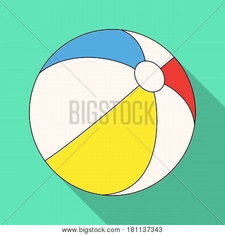 Inable multicolored ball.Summer rest single icon in flat style vector symbol stock web illustration.