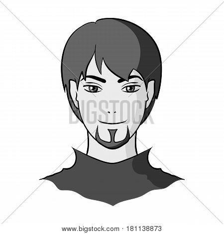 Avatar of a man with red eyes .Avatar and face single icon in monochrome style vector symbol stock web illustration.