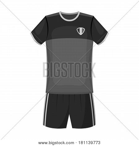 Form of the Belgian football team.The dark Belgian wolf. Belgium single icon in monochrome style vector symbol stock web illustration.