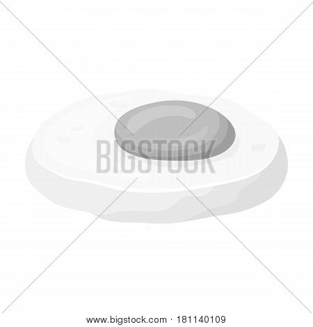 Fried eggs with yolk.Burgers and ingredients single icon in monochrome style vector symbol stock web illustration.