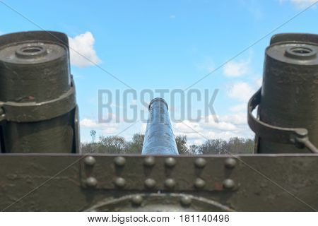 Trunk of artillery weapons as a symbol of the Second World War