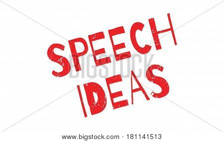Speech Ideas rubber stamp. Grunge design with dust scratches. Effects can be easily removed for a clean, crisp look. Color is easily changed.