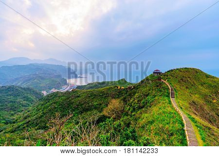 View of mountains and nature on the east coast of Taiwan