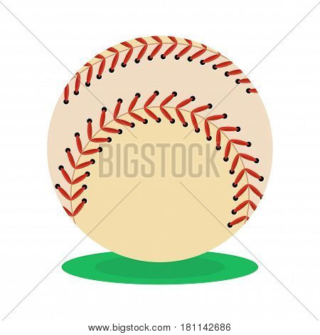 Baseball ball icon. Flat vector cartoon illustration. Objects isolated on a white background.