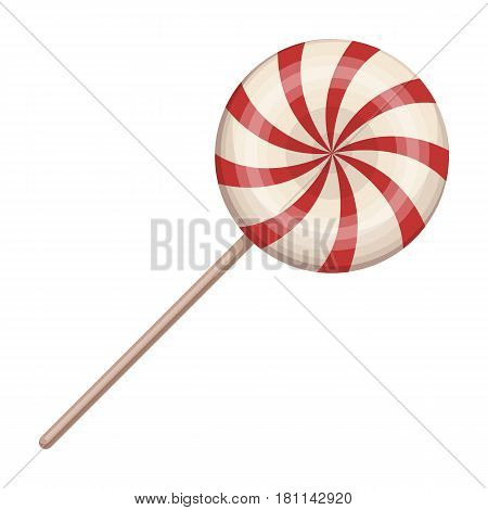 Sweet candy on a stick.Party and parties single icon in cartoon style vector symbol stock web illustration.