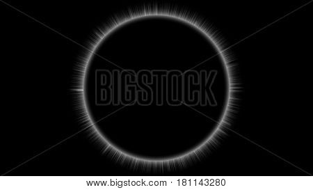 Solar Eclipse, Clean and Simple on Black Background
