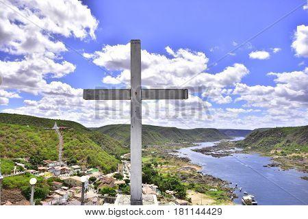 Landscape of the beautiful city of Piranhas. Brazil