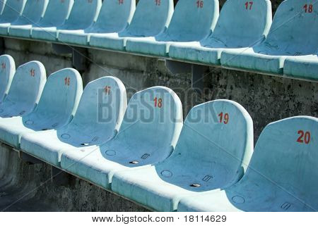 Seats For Spectators At The Old Stadium