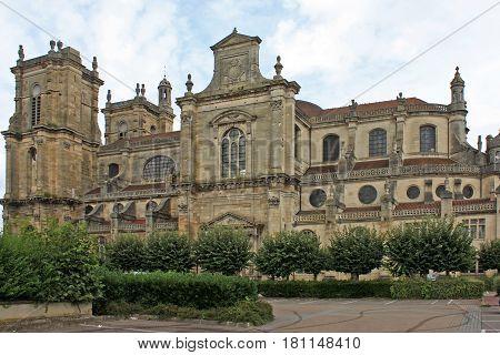 exterior of Notre Dame church, Vitry le Francois, France