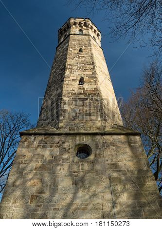 vincke tower hohensyburg Dortmund Germany on a sunny day with blue sky
