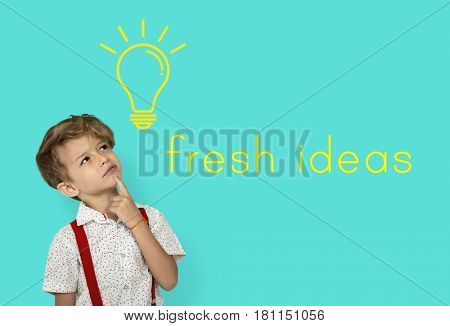 Ideas Light Bulb Think Create Graphic Word