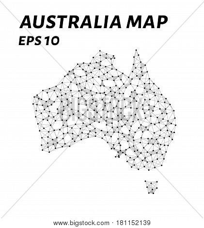 Map Of Australia From Points Lines And Triangles. The Polygon Shape In The Form Of A Map Of Australi
