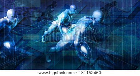 Automation Industry System and Software Technology Concept 3D Illustration Render
