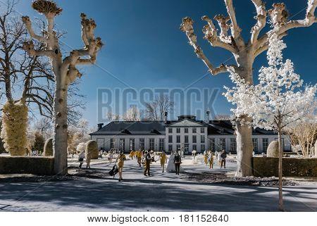 Editorial: 8Th April 2017, Strasbourg, France: Beautiful Public Park Near Orangery
