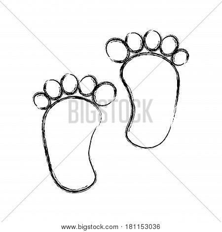 foot print baby isolated icon vector illustration design