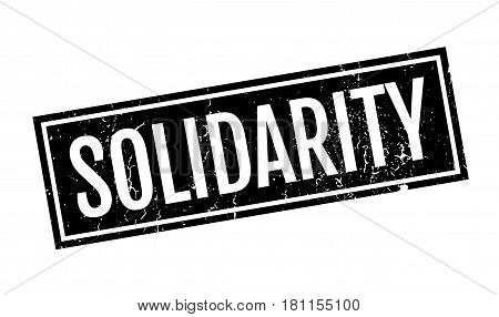 Solidarity rubber stamp. Grunge design with dust scratches. Effects can be easily removed for a clean, crisp look. Color is easily changed.
