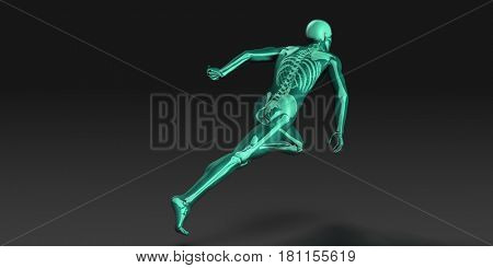 Sports Medicine and Fitness Analytics as a Concept 3D Illustration Render