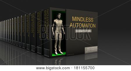 Mindless Automaton Endless Supply of Labor in Job Market Concept 3D Illustration Render