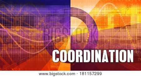 Coordination Focus Concept on a Futuristic Abstract Background