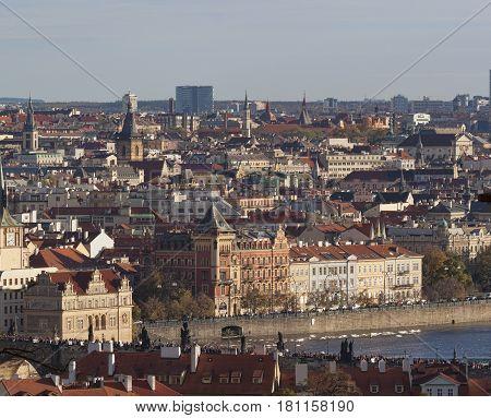 View Of Autumn Prague From The Prague Castle