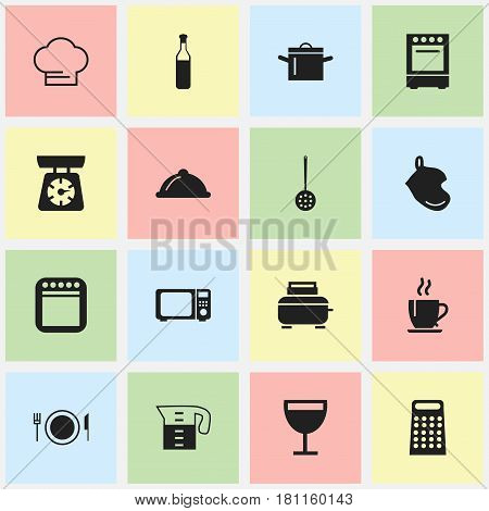 Set Of 16 Editable Restaurant Icons. Includes Symbols Such As Dish, Food Libra, Plate And More. Can Be Used For Web, Mobile, UI And Infographic Design.