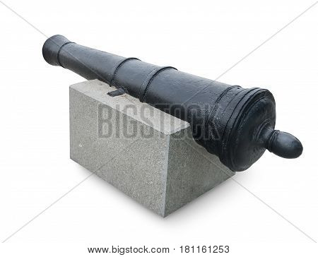 Ancient cannon isolated on a white background