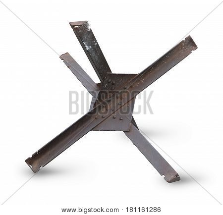 Antitank defence isolated on a white background