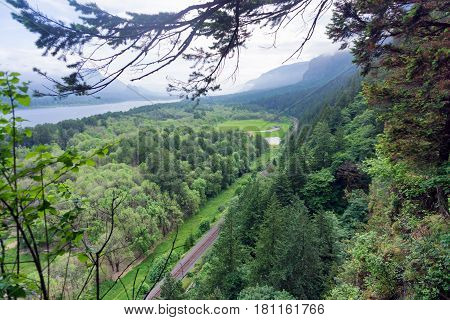Columbia River Gorge landscape view near Portland Oregon
