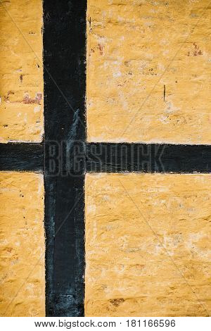 House wall detail of an traditional house in Denmark