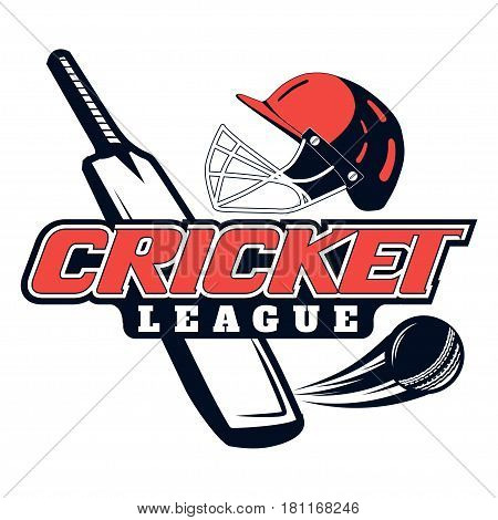 Vector logo for cricket game design, team, commercial, print or web on a white background