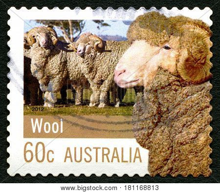 AUSTRALIA - CIRCA 2012: A used postage stamp from Australia celebrating the farming industry circa 2012.
