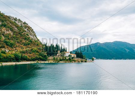 Monastery of Banja on the shore of Kotor Bay, between the cities of Risan and Perast, in Montenegro.