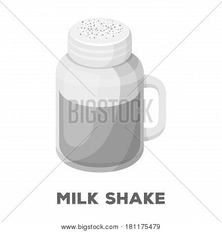 milk shake.Different types of coffee single icon in monochrome style vector symbol stock illustration .
