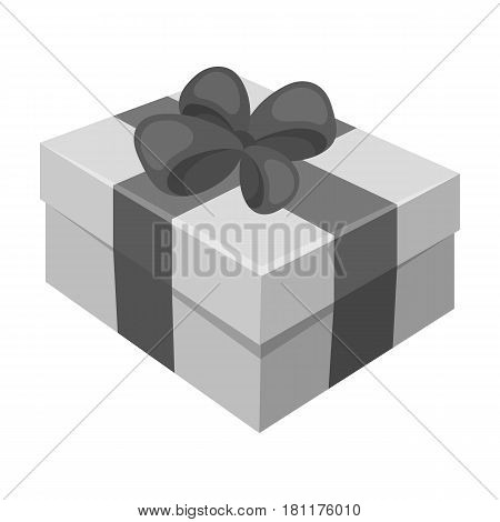 Gift wrapping for Easter. Easter single icon in monochrome style vector symbol stock web illustration.