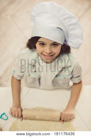 Little Girl Baking
