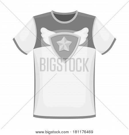 T-shirt fan with print.Fans single icon in monochrome  vector symbol stock illustration.