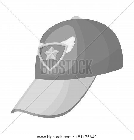 Cap football fan.Fans single icon in monochrome  vector symbol stock illustration.