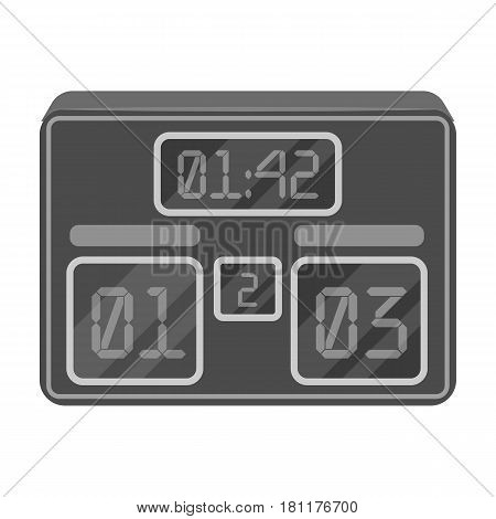 Board with a score of football.Fans single icon in monochrome  vector symbol stock illustration.