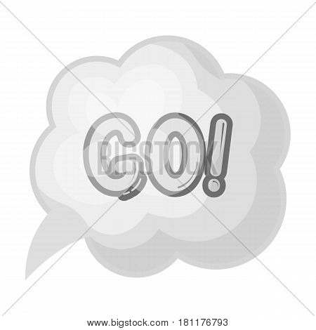 Go in the cloud.Fans single icon in monochrome  vector symbol stock illustration.