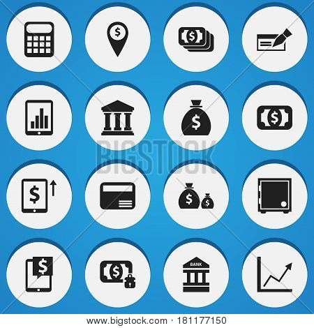 Set Of 16 Editable Investment Icons. Includes Symbols Such As Treasure, Money Card, Holdall And More. Can Be Used For Web, Mobile, UI And Infographic Design.