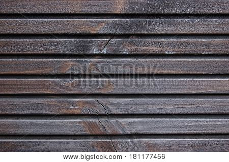 Wooden Plank Terrace Board Black Grey Wood Tar Paint Texture Detail Large Old Aged Dark Gray Detailed Cracked Timber Rustic Macro Closeup Pattern Blank Empty Horizontal Rough Textured Copy Space Grunge Weathered Vintage Woodwork Painted Background poster