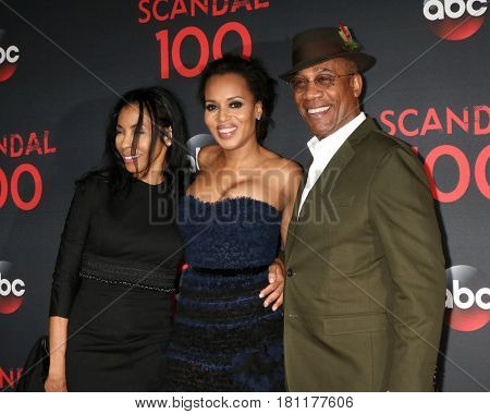 LOS ANGELES - APR 8:  Khandi Alexander, Kerry Washington, Joe Morton at the