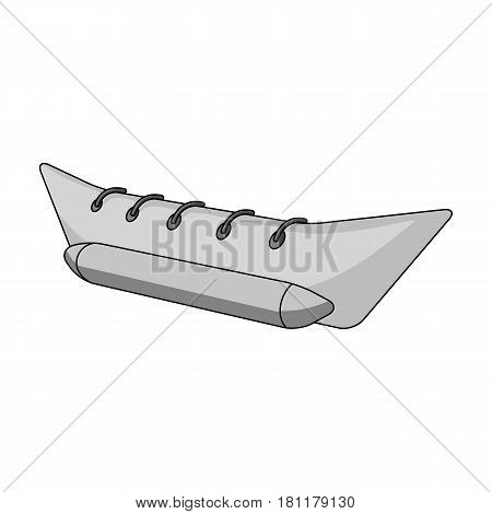 Water attraction banana.Summer rest single icon in monochrome style vector symbol stock web illustration.