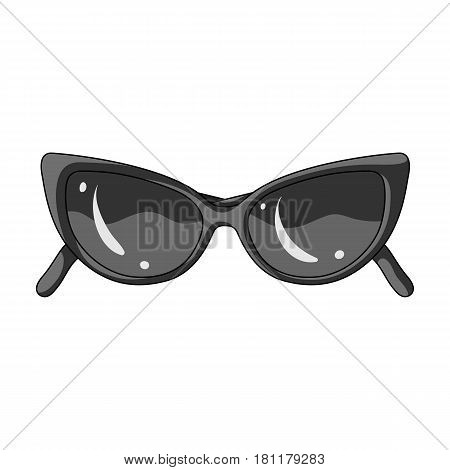 sunglasses for protection from the sun.Summer rest single icon in monochrome style vector symbol stock web illustration.
