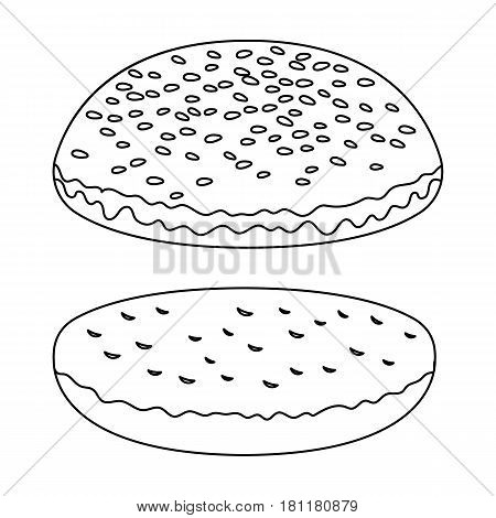 Burger roll.Burgers and ingredients single icon in outline style vector symbol stock web illustration.