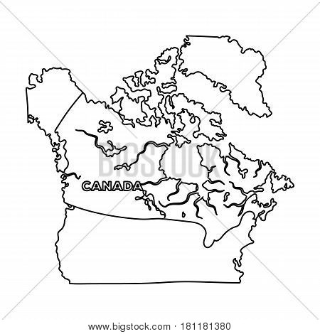 Map of Canada. Canada single icon in outline style vector symbol stock illustration .